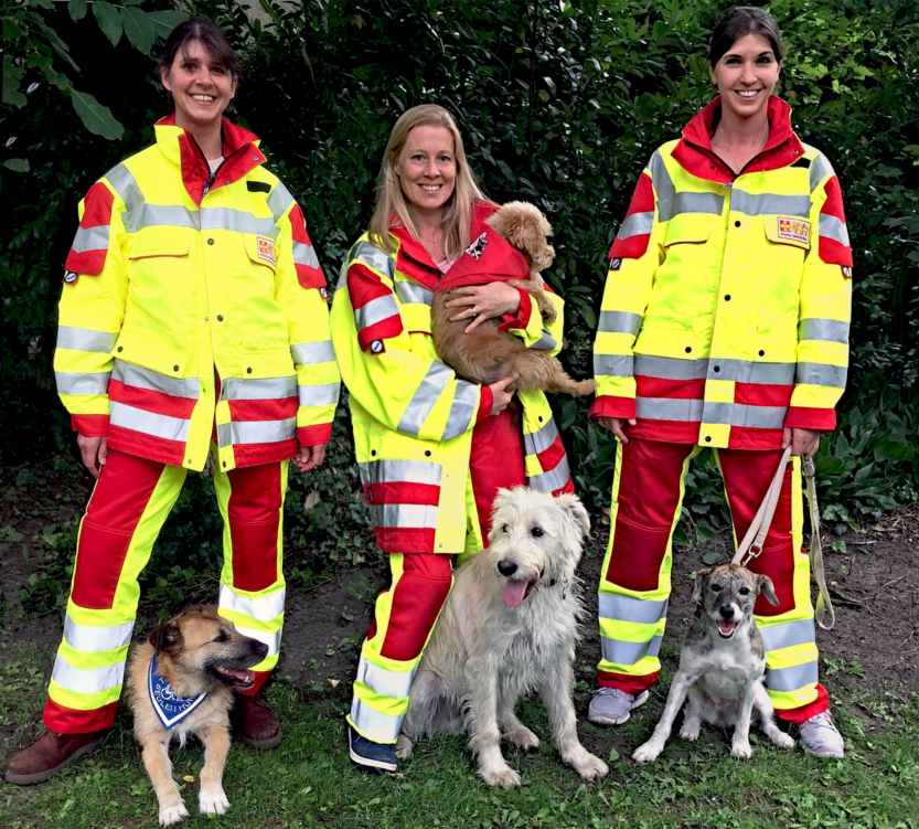 Besuchspfoten Mitarbeiterinnen und ihre Hunde